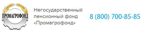 Личный кабинет НПФ Промагрофонд